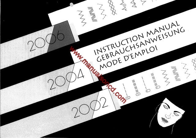elna 2005 sewing machine instruction manual