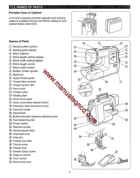free pdf kenmore model 158.12313 sewing machine manual