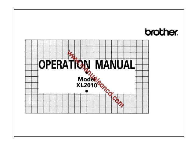 brother sewing machine manuals free